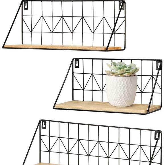 Mkono Set of 3 Wall Floating Shelves